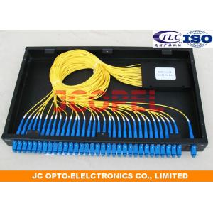 China 19 '' Chassis 2 in 1 out PLC Fiber Splitter G657A1 Fiber Coupler For Data Centre on sale