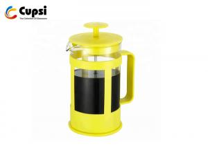 China Shatter Resistant Plastic French Press Coffee Make With Heaproof Borosicate Glass Multi Sizes supplier
