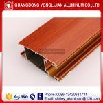 China Powder coated wood grain aluminum extruded profile for door, aluminum door frame wood color wholesale