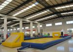 Amusment Park Inflatable Soccer Playground , 20 X 10m Inflatable Football Pitch