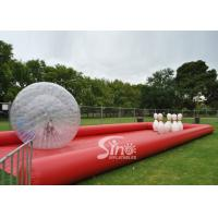 New design giant inflatable human bowling ball game with big zorb ball and race track