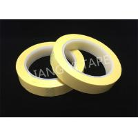 Light Yellow Polyester Mylar Tape With Flame Retardant 0.055mm Thickness