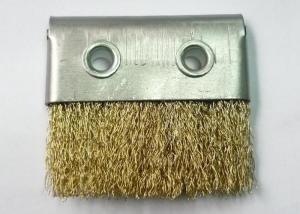 China Dustproof Metal Channel Strip Brushes / Industrial Brush Strip Brass Wire Aluminium Holder on sale