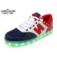 China Size 38 Custom LED Casual Shoes Light Up Flashing Sneakers Flat Heel For Men on sale