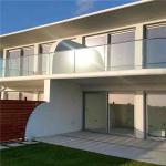 Frameless Tempered glass modern design balcony railing with Aluminum U channel