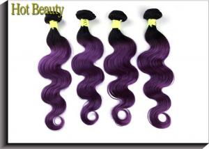 China Body Wave Ombre Human Hair Extensions Purple Color No Any Split For Every Beauty on sale