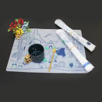 China Food grade magic drawing mat drawing mat doodle silicone kids clear placemat on sale