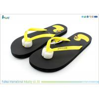 Fashion Style Woman Flip Flops Silk Printing Yellow Duck  With PE Sole