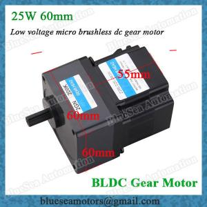 China 25W low voltage DC brushless motor with transmission gearbox Micro BLDC gear motors on sale