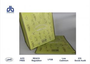 China All Size RPET Shopping Bags 35 * 20 * 38cm Green Grocery Bags OEM Available on sale
