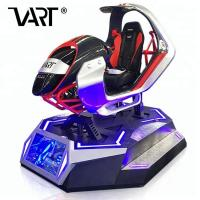 Virtual Reality 5D / 7D / 9D Car Racing Simulator With Red or Blue Lighting