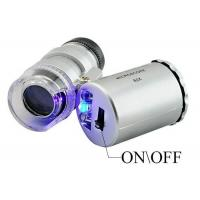 60x Handheld Pocket Microscope Loupe Jeweler Magnifier With LED Light Glass