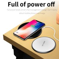 QI Wireless Fast Charger Phone Pad Plate For iPhone X 8 Plus Samsung S9 S8