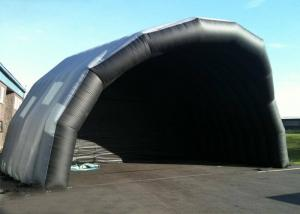 China Customized Giant Inflatable Stage Cover Black Large Inflatable Event Tent on sale