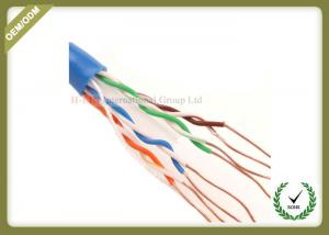 China Cat6 Utp Network Fiber Cable Solid Copper Pass Fluke Test 4 Pair 305m on sale