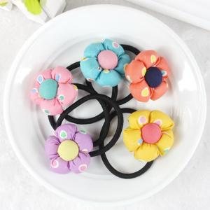 China Baby accessories children Girls jewelry Rabbit pumpkin flower baby headwear hair ring hair rope elastic hair band on sale