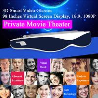 98 inch Virtual Screen Display Full HD 1080p 3D Video Glasses