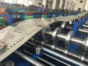 China Galvanized Steel Perforated Cable Tray Roll Forming Machine Automatic Control PLC on sale
