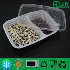 China Two Compartments Divided Disposable PP Food Container / PlasticTableware on sale