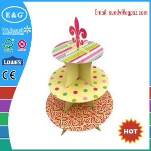 China Supplier of 5 / 3 tier cardboard cupcake display stands on sale