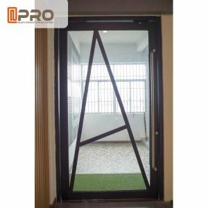 China Floor Spring Aluminum Pivot Doors For Interior House Customized Size Front pivot Doors pivot Glass door Glass pivot door on sale
