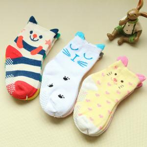 China High quality custom lovely cartoon design non slip baby socks on sale