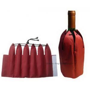 China Non Toxic Insulated Wine Bag 38*23.5cm Size Promotional Bevarage Freezer on sale