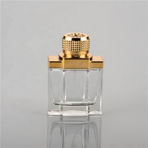 Quality UV Plastic Cap Empty Perfume Spray Bottles 100ml Glass Golden Cap Color for sale
