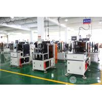 China Automatic Single Phase Motor Stator Coil Lacing Machine CNC Controller White Color on sale