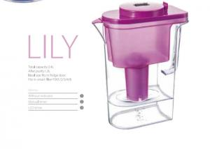 China Red Alkaline Water Filter Jug 8.5-10 PH , Antioxidant Brita Water Filter Kettle on sale