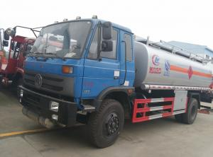 China Dongfeng 153 4*2 14.5cbm aluminum alloy fuel tank truck/fuel refueling tanker truck, hot sale 15m3 oil dispensing truck on sale