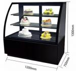 Stainless Steel Refrigerated Cake Display Cabinets 410L Capacity CE Certificated with 1200mm Length