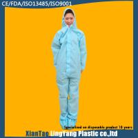 Long Sleeve Disposable Waterproof Coveralls One Piece Work Uniform ISO Standard