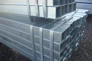China High Toughness Galvanized Steel Square Tubing , Zinc Plating Mild Steel Square Tube on sale