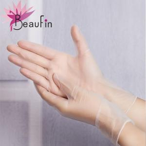 China Disposable black pvc gloves on sale