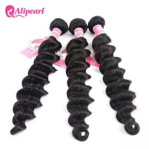 China Soft Loose Deep Wave Brazilian Human Hair Bundles 8A Remy Hair Extensions on sale