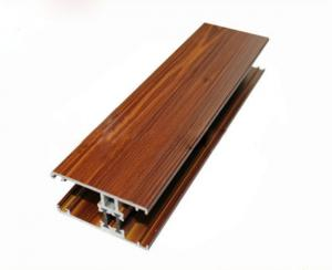 China Wood Finished Sliding Shower Door Frame , Aluminium Profile Extrusion For Kitchen Cabinet on sale