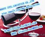operações de desalfandegamento da importação do vinho