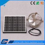 Commercial Solar Powered Gable Vent Fan , Solar Gable Attic Vent Light Weight
