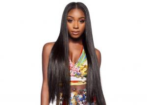 China Natural Straight Real Hair Colored Hair Wigs , Full Lace Front Wigs For Black Women on sale