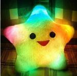 almohada colorida con precio barato, almohada suave del LED del regalo del LED
