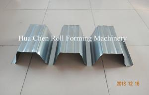 China PLC Control Floor Deck Roll Forming Machine With Cycloidal Reducer on sale