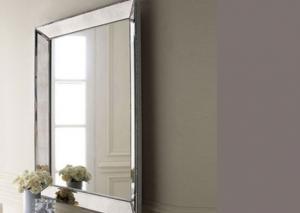 China Durable Round Silver Bathroom Mirror , Moisture Proof Custom Mirror Glass on sale