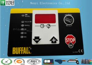 China Matte Or Glossy Membrane Switch Overlay , PET 0.2 Mm Transparent Custom Graphic Overlay on sale