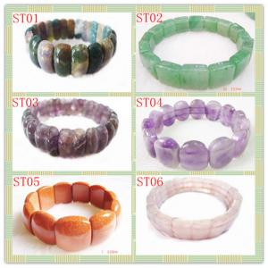 China Stone Material, Fashion Charm Natural Gemstone Bracetes Semi Precious Gem Jewelry on sale