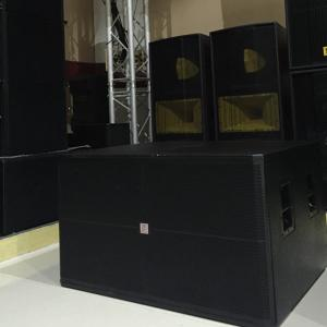 China dual 18'' pro audio subwoofer outdoor long distance speaker concerts big shows audio sound speaker box on sale