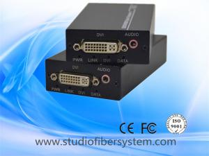 China 1Port compact 1080p DVI fiber optic extender with 3.5mm stereo audio over 1 sm fiber up to 80km on sale