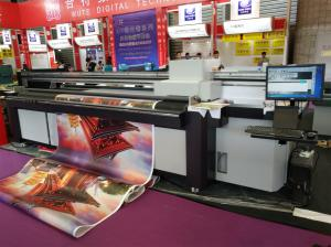 China 2.5m Hybrid UV Printer with RICOH GEN5/GH2220/KM1024i/KM512i Heads for Both Rigid Flat and Soft Roll to Roll Materials on sale
