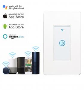 China Smart Wifi Switch US 1/2/3 Gang Touch Panel Wireless Remote Control Light Switch Compatible Alexa Google Home Tuya APP on sale