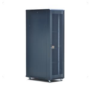 China Floor standing perforated metal door network server rack 42u on sale